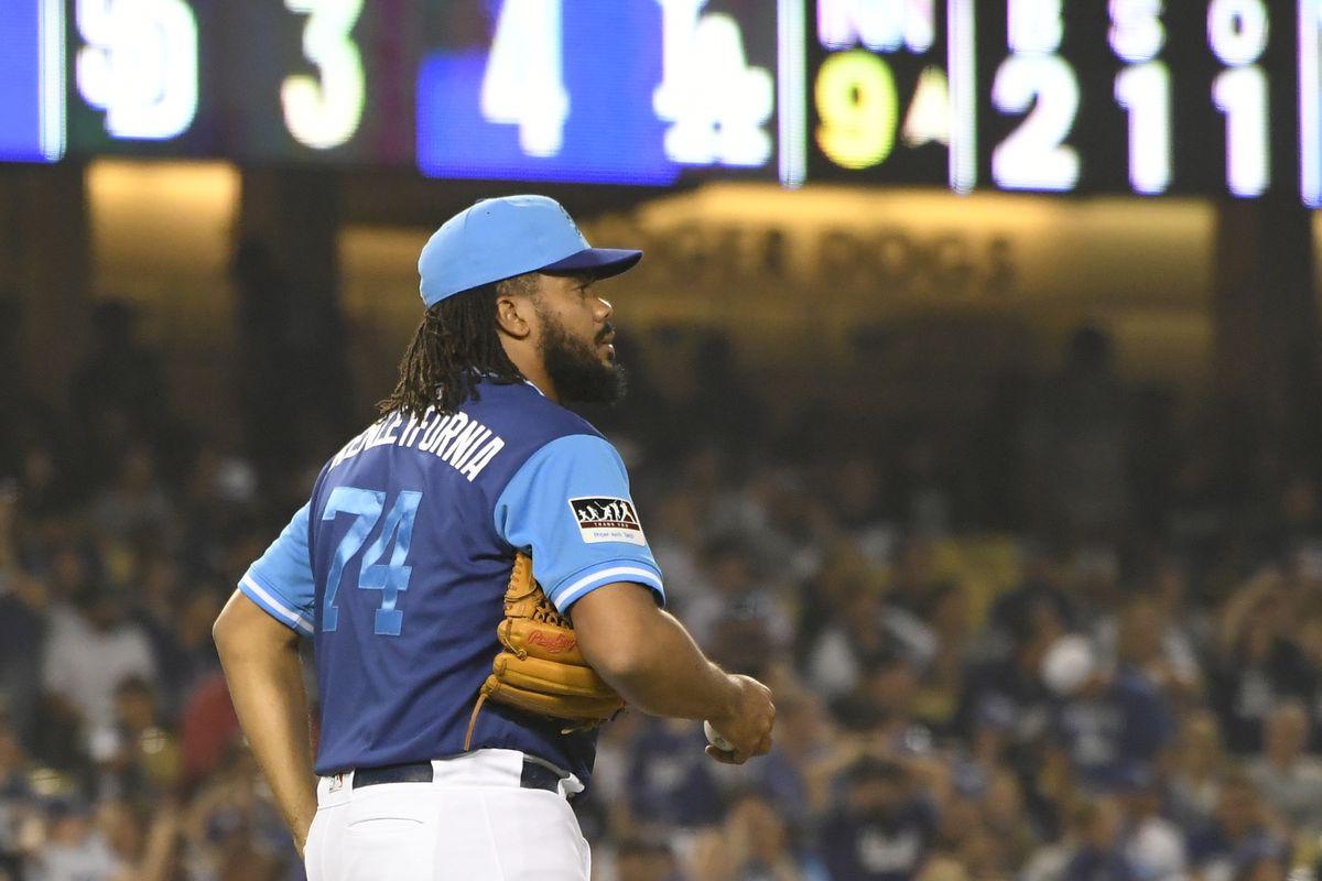 Kenley Jansen blown save  Dodgers to sit their closer on Sunday ... cef7bc48ff13