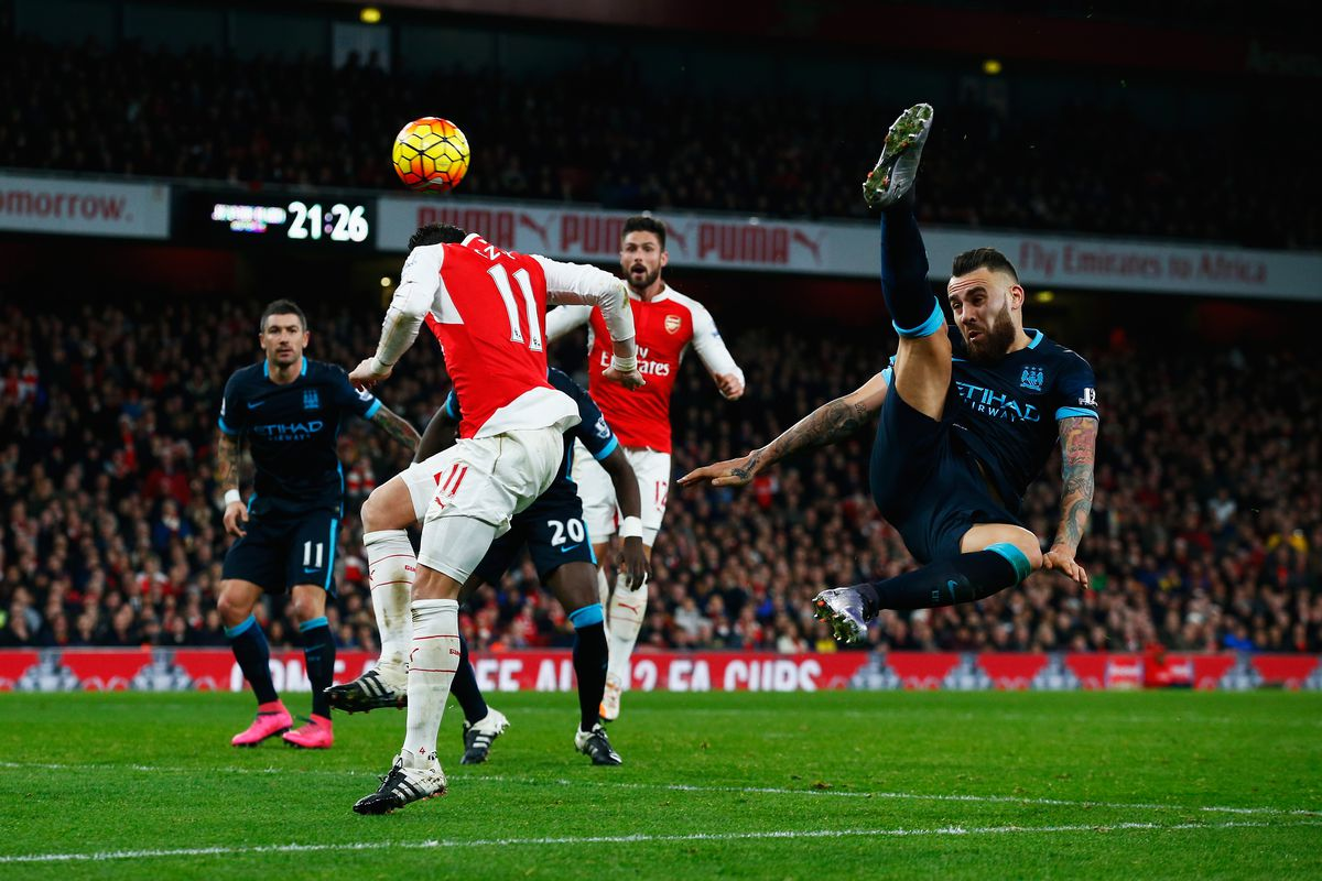It was a high-flying, reckless-limbs kind of day for Arsenal's opponents.