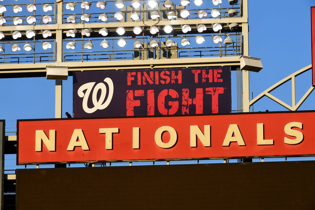 Washington Nationals workout at Nats park ahead of home games in the World Series