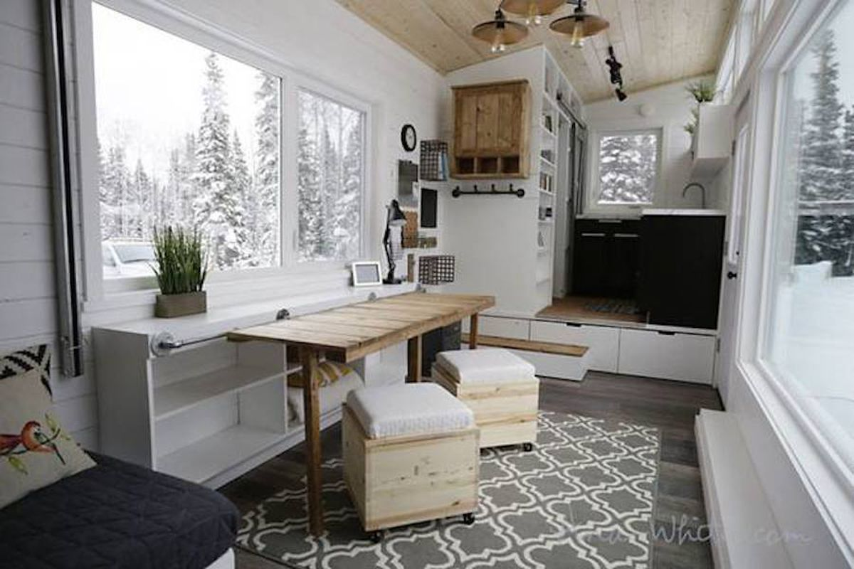 genius tiny house is full of diy transforming furniture