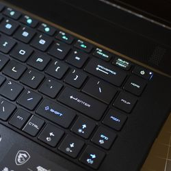 <em>Note the Fn key wedged between backslash and control. For me, this location made executing functions cumbersome and error-prone. </em>