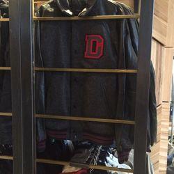 Varsity jacket, $124.50 (was $498)