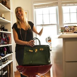 """Rachel's Birkin. """"I know a lot of people would get like a tan or black to be safe and go with a lot of things, but I just felt like I wanted a Birkin that would make me smile every time that I looked at it, you know?"""""""