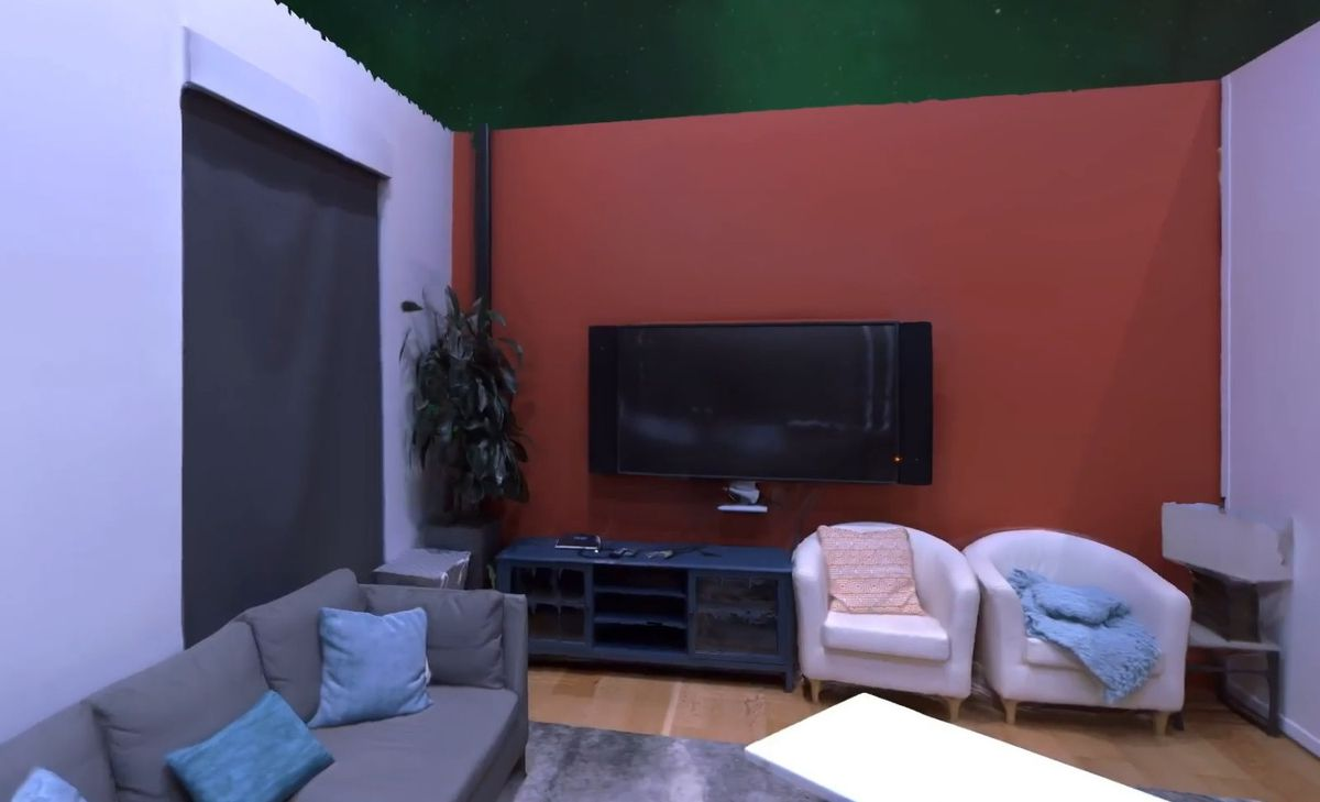 Simulated photo of a living room