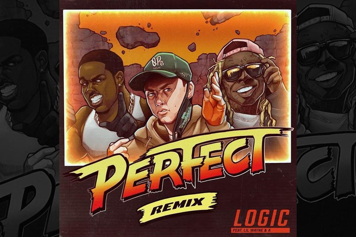 "Logic's ""Perfect (Remix)"" artwork"