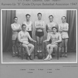 This is an LDS basketball team in Australia in 1947.