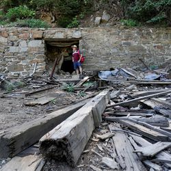 Salt Lake County Council member Richard Snelgrove looks at the remnants of the Cardiff Mine in Mill D South Fork of Big Cottonwood Canyon on Wednesday, Aug. 12, 2020.
