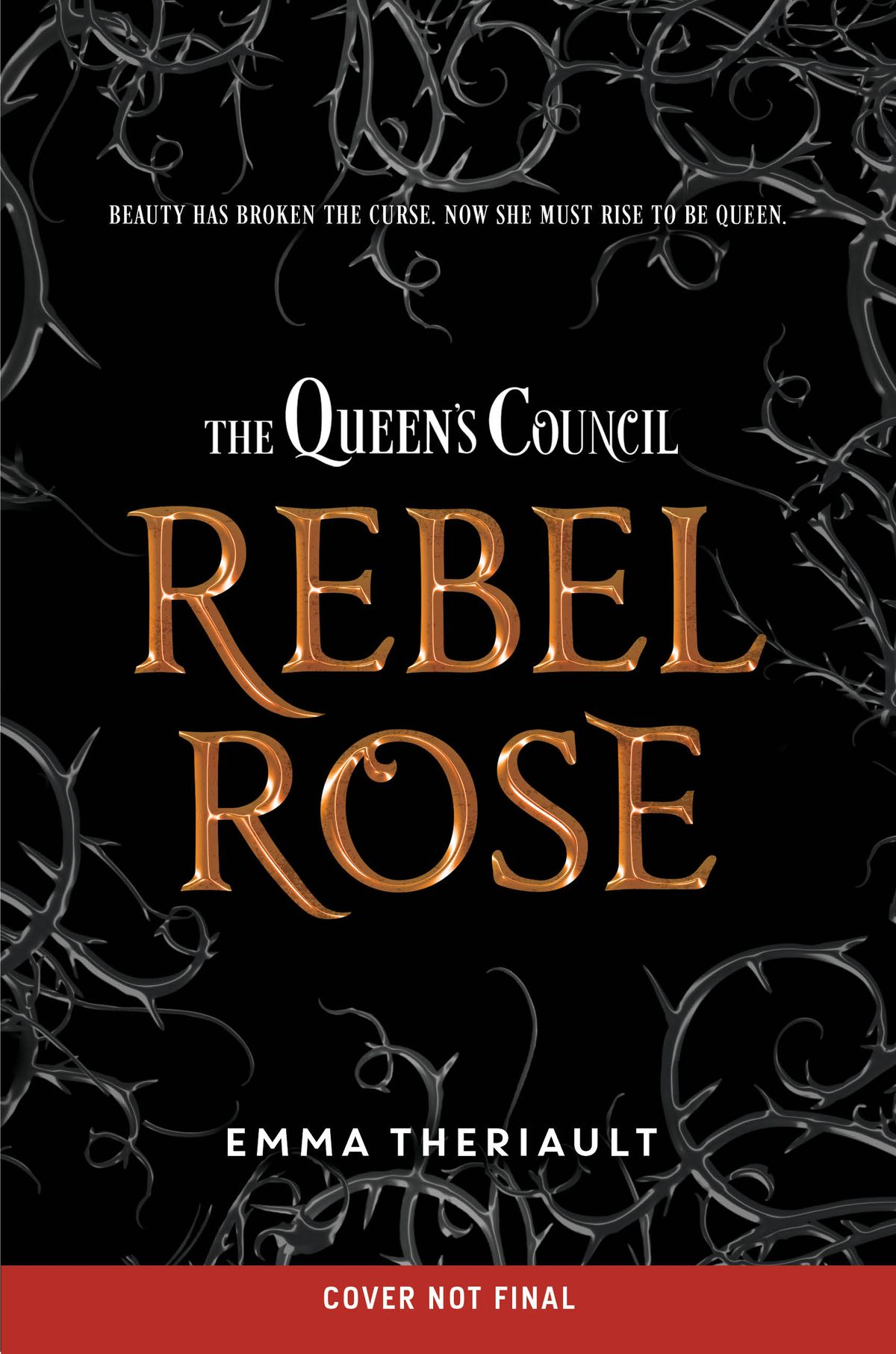 a mockup title for The Queen's Council: Rebel Rose
