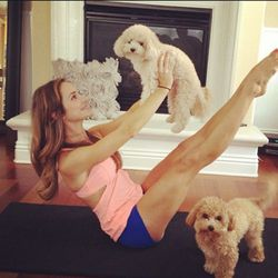 Don't you wish every workout prop could be this cute and fuzzy? Images via Christine Bullock