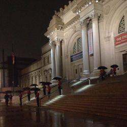 Cartier's army of umbrella porters last night