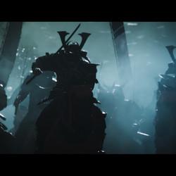 Samurai race into action to defend the island of Tsushima.