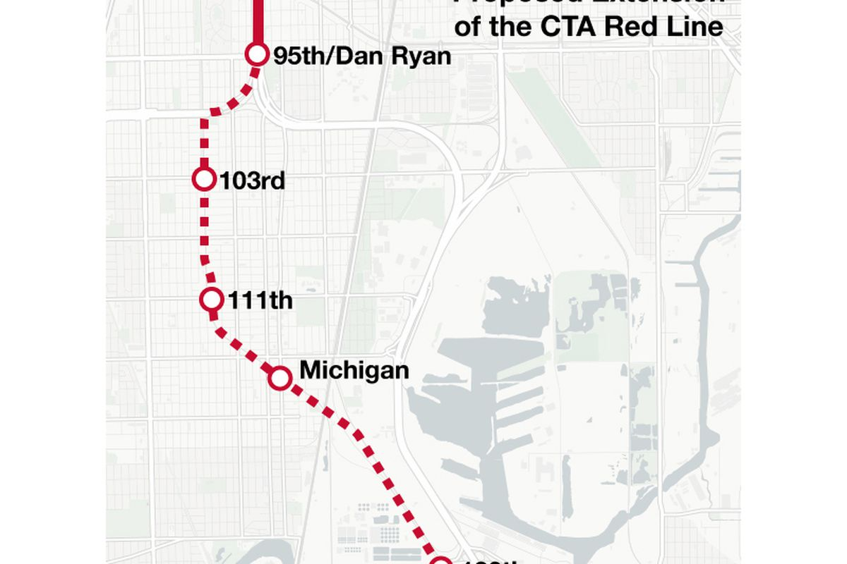 CTA announces path for proposed Red Line extension on South