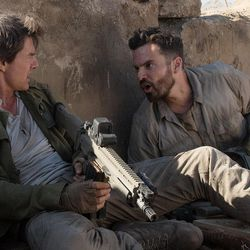 """Nick Morton (Tom Cruise) and Chris Vail (Jake Johnson) in """"The Mummy."""""""