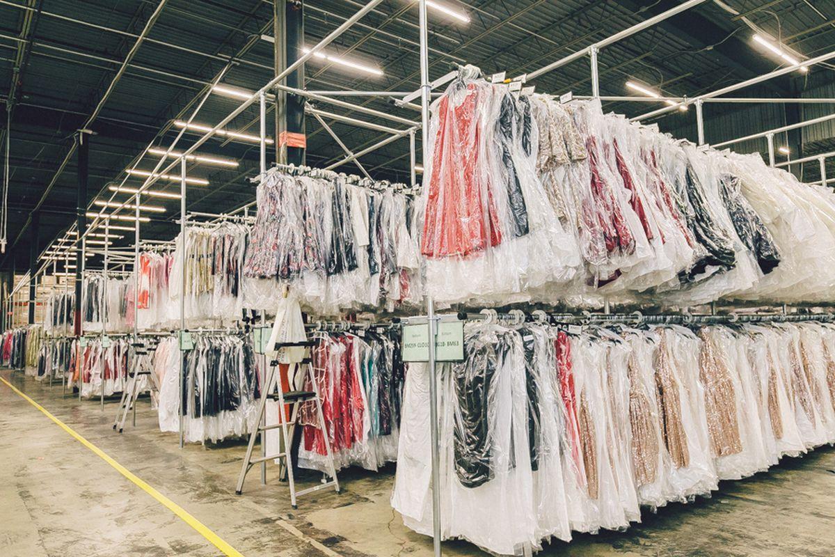 9337c25b0e Tour Rent the Runway's Massive, Shoppable Warehouse - Racked