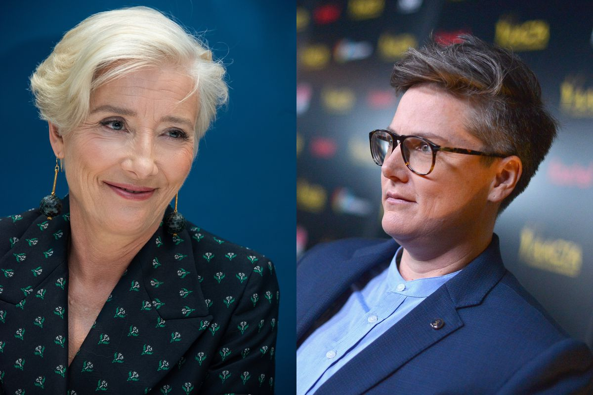 Douglas and Nanette star Hannah Gadsby joined Emma Thompson for pints in London