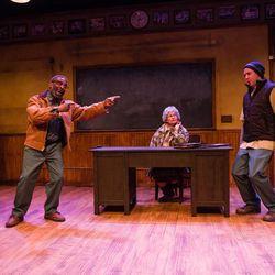 "Glenn Turner, Jayne Luke and Lucas Bybee star in Salt Lake Acting Company's ""How to Make a Rope Swing."""