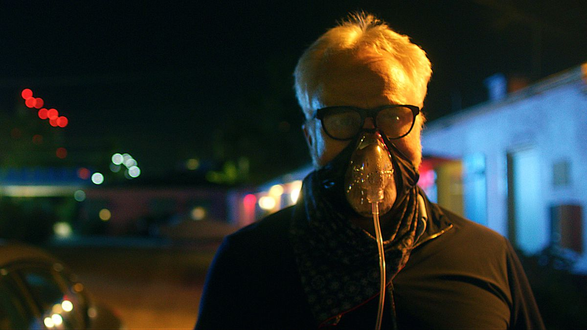 Bradley Whitford in a pandemic mask in Songbird