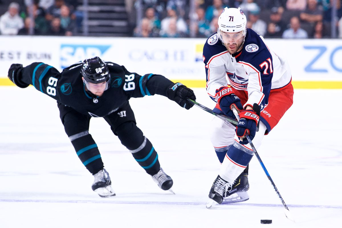 NHL: NOV 01 Blue Jackets at Sharks