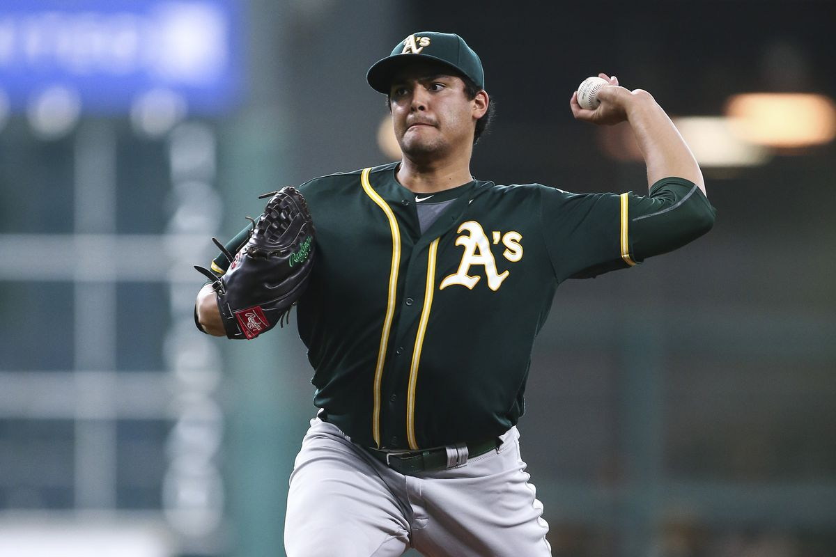 Manaea's last outing (7 ip, 0 runs, 6 Ks, 0 BB) was by far the best of his career so far.