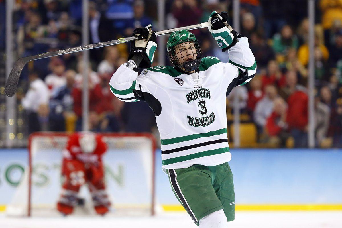 NCAA Hockey: Frozen Four-Boston University vs North Dakota