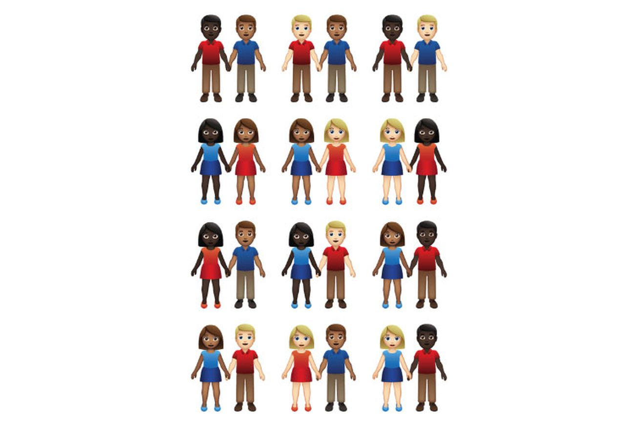 emoji couples might come in 55 gender and skin tone combinations next year