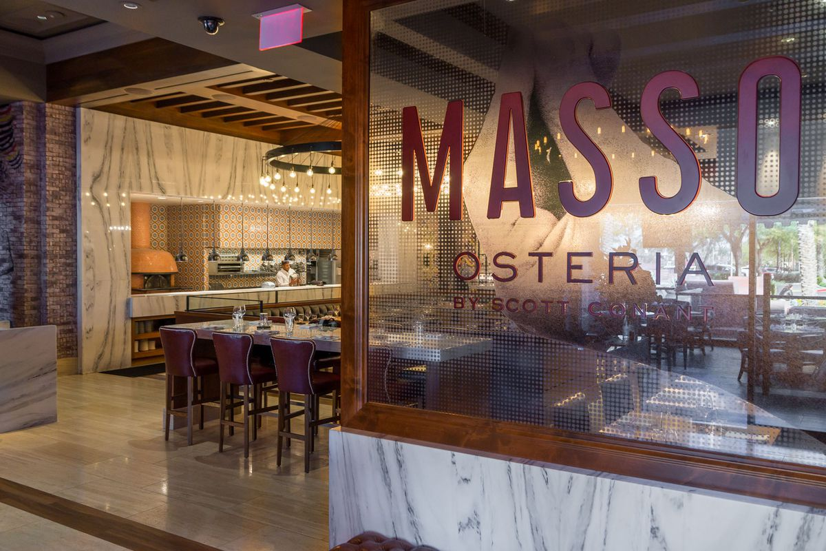 The entrance to Masso Osteria
