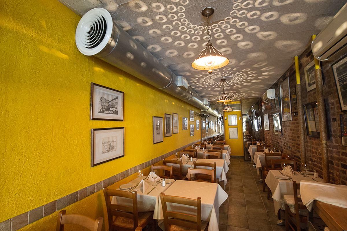 [The dining room at Da Silvano in Greenwich Village]