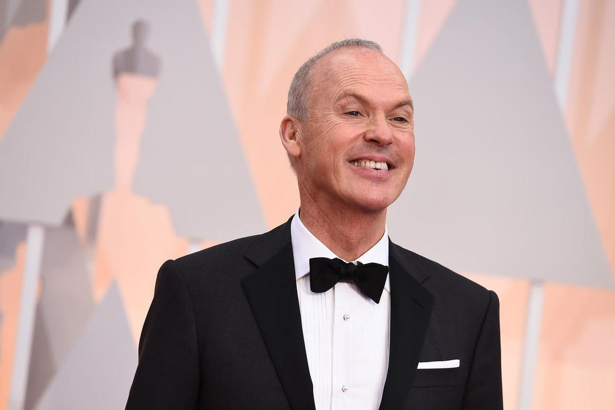 Michael Keaton arrives at the Academy Awards on Sunday, Feb. 22, 2015, at the Dolby Theatre in Los Angeles.