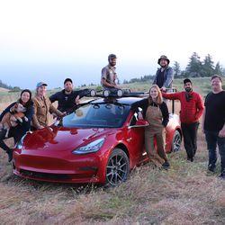 YouTuber Simone Giertz transformed a Tesla Model 3 into a