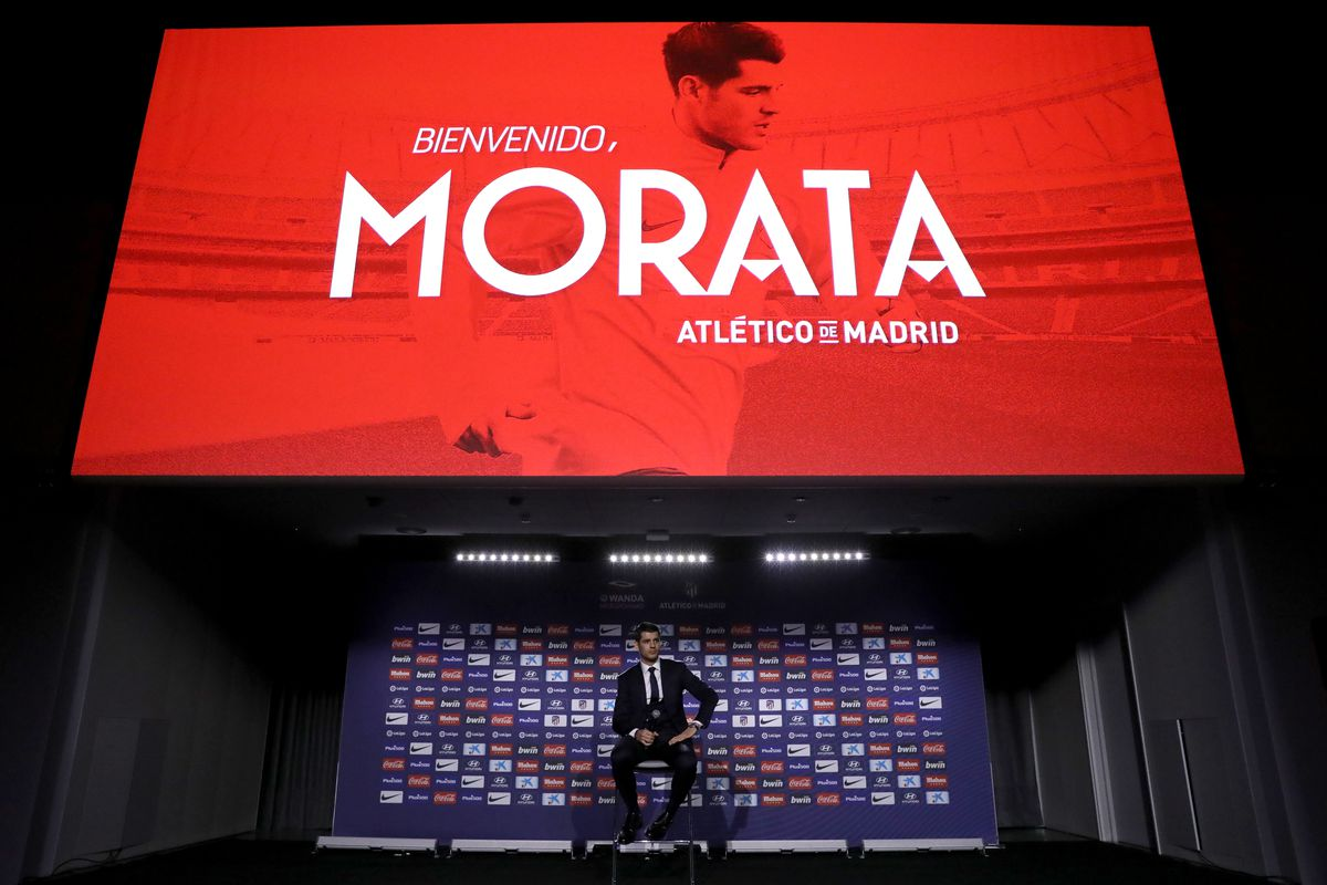 Club Atletico de Madrid unveil new signing Alvaro Morata