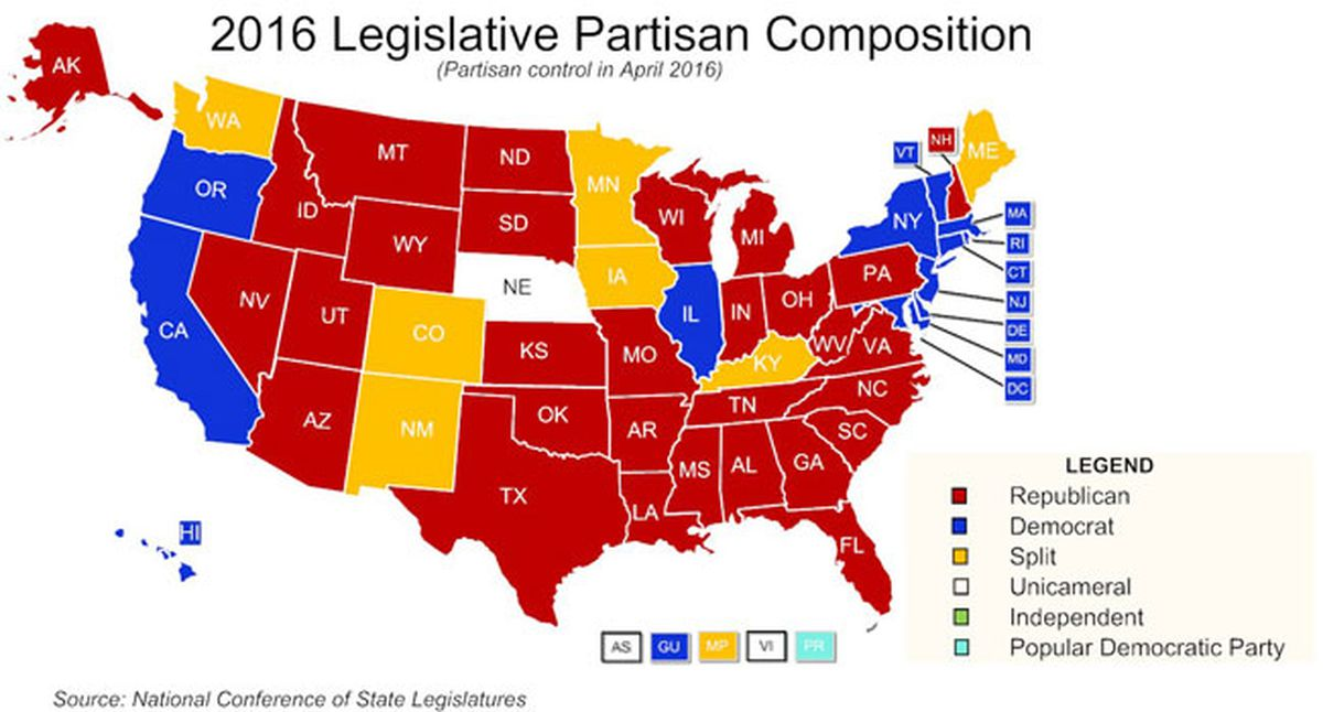 ncsl data on partisan composition