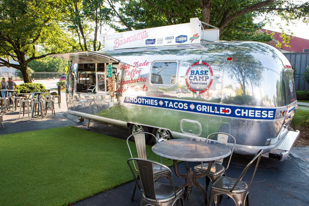 The airstream trailer that serves as Basecamp Provisions.