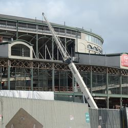 1:19 p.m. The west side of the ballpark -