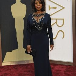 """""""<strong>Alfre Woodard</strong>. The dress was just way too <em>Dynasty </em>meets drag pageant.  The chest area popping out was too much for me—it ended up into the vulgar territory because it didn't fit. The bag was just so boring and awful it needs to"""