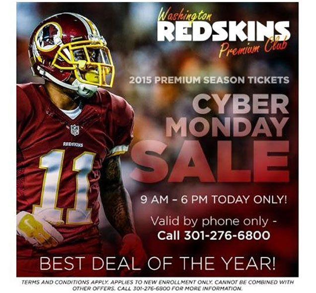 Redskins Cyber Monday