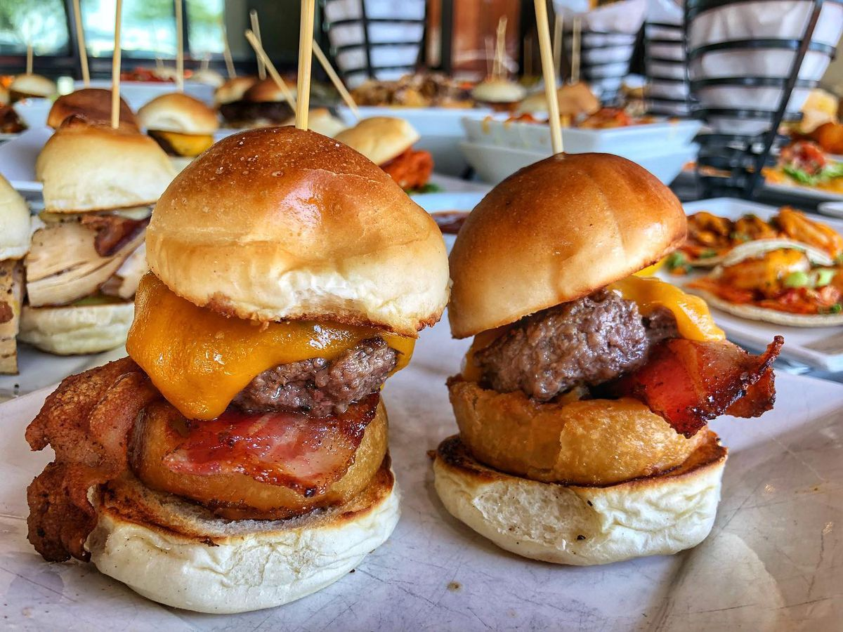 Two sliders with more in the background