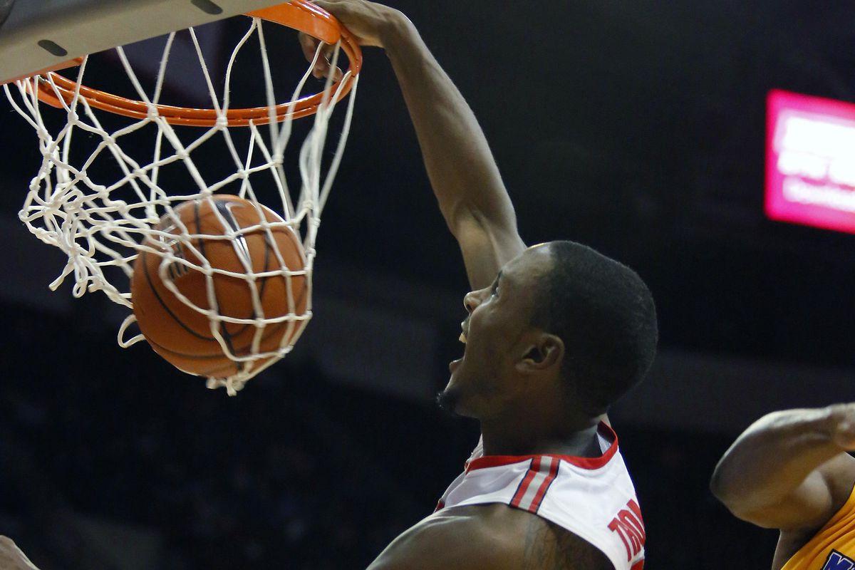 Sam Thompson's ferocious dunk against Morehead State