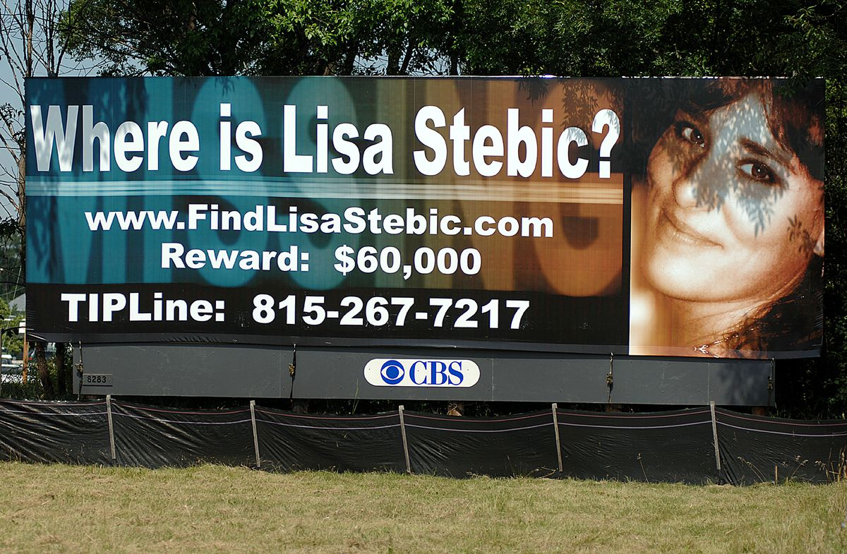 A billboard on Route 30 just west of Interstate 55 in Plainfield in 2007 sought the public's help in finding Lisa Stebic. | Sun-Times file photo