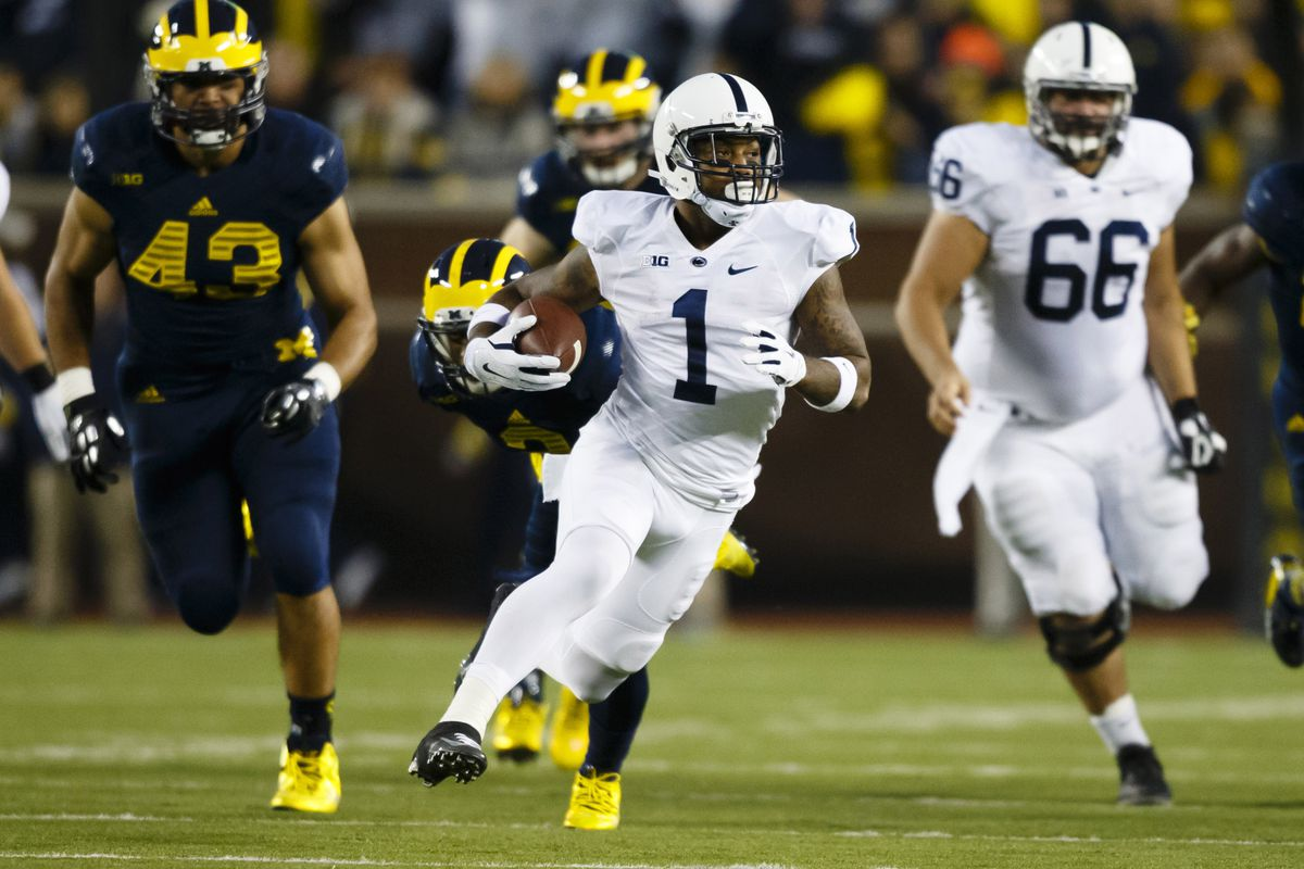 Penn State running back Bill Belton and the Nittany Lions prepare to host the Ohio State Buckeyes.