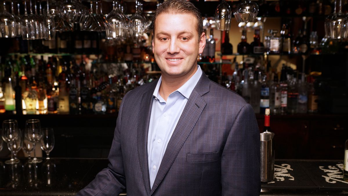 Evan Glusman in the Monkey Bar at Piero's Italian Cuisine.