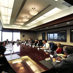 Gov. Gary Herbert meets with the Deseret Media Companies Editorial Board in Salt Lake City on Monday, May 23, 2016.