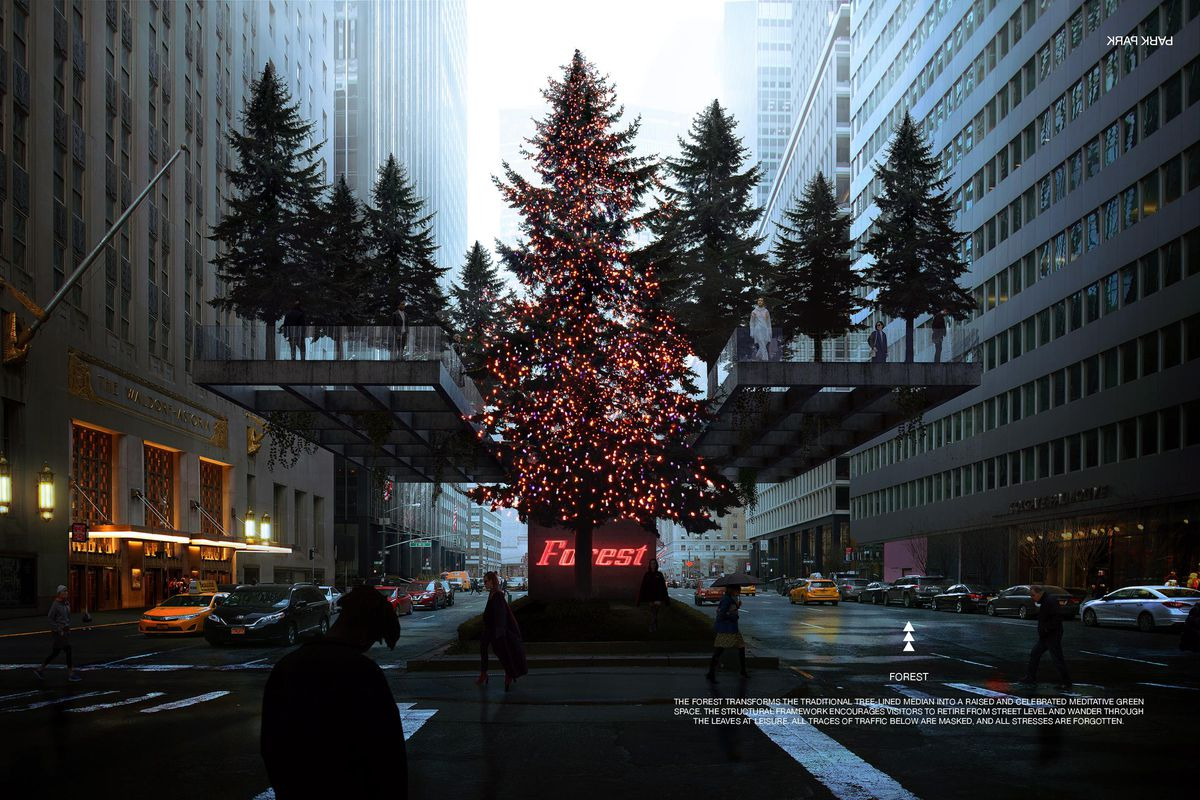 See the winning designs for Park Avenue malls design competition - Curbed NY