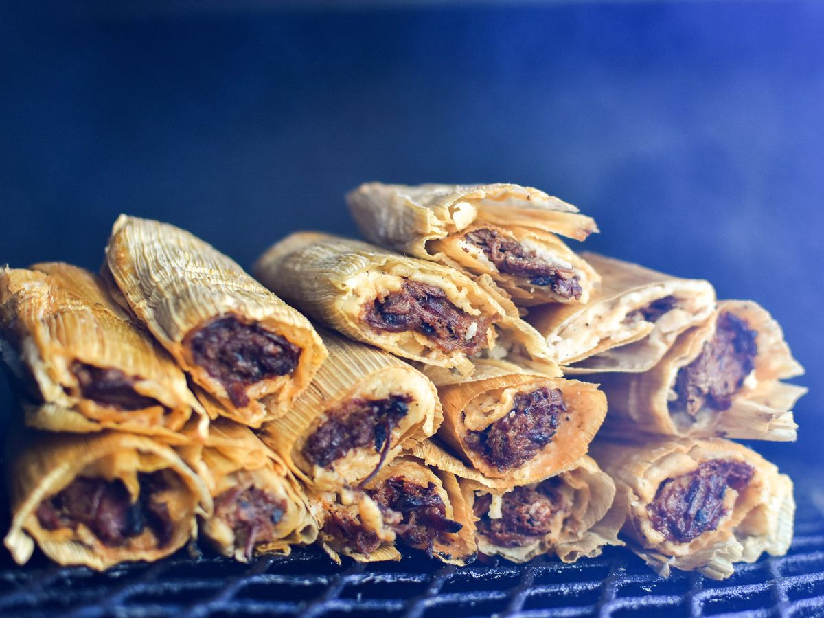 The brisket tamales from Black's Barbecue Austin