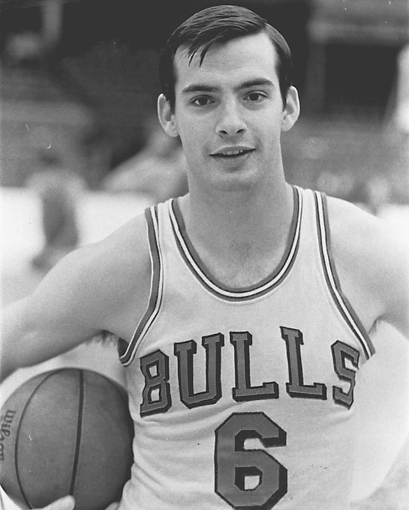 Jim Burns played part of one season for the Chicago Bulls after graduating from Northwestern University.