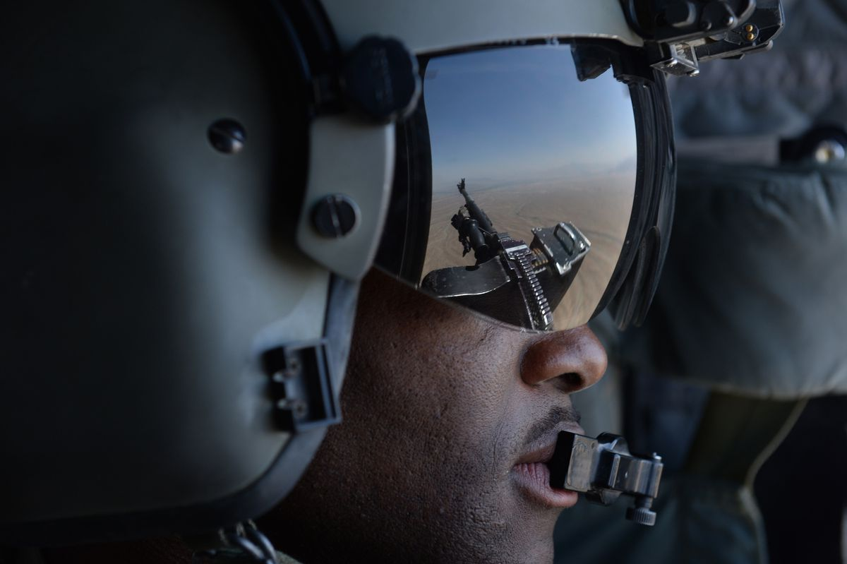 US soldier helicopter Afghanistan SHAH MARAI/AFP/Getty Images