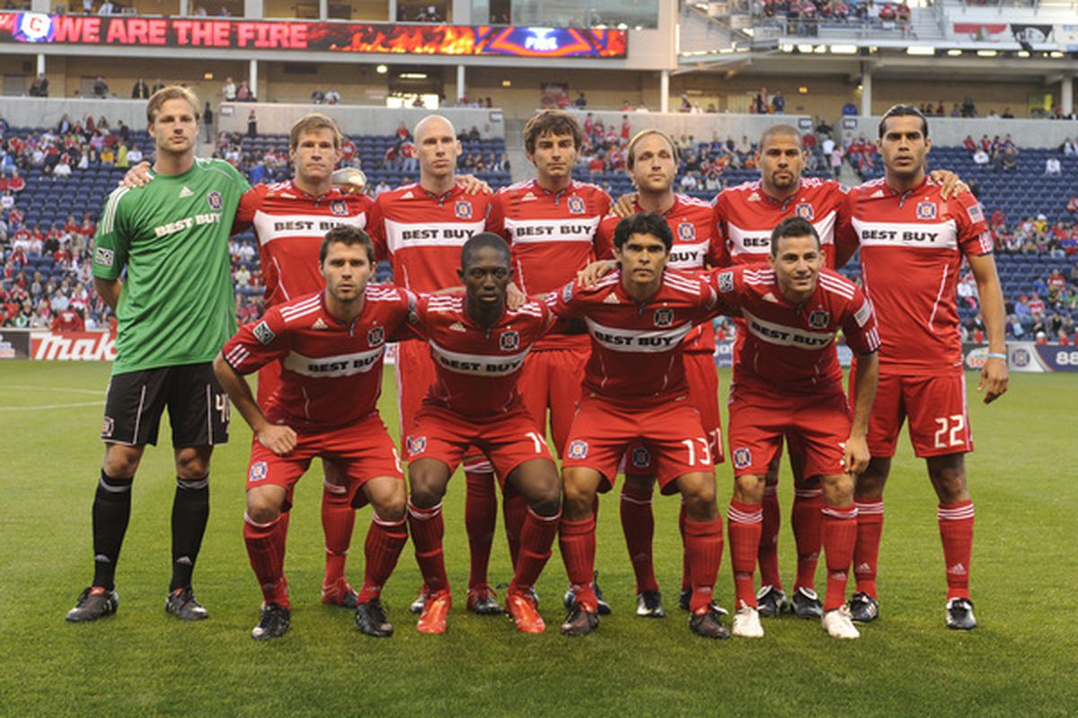 This photo taken on May 1, 2010 before a regular season game against Chivas USA features 1 player that is still with the Chicago Fire
