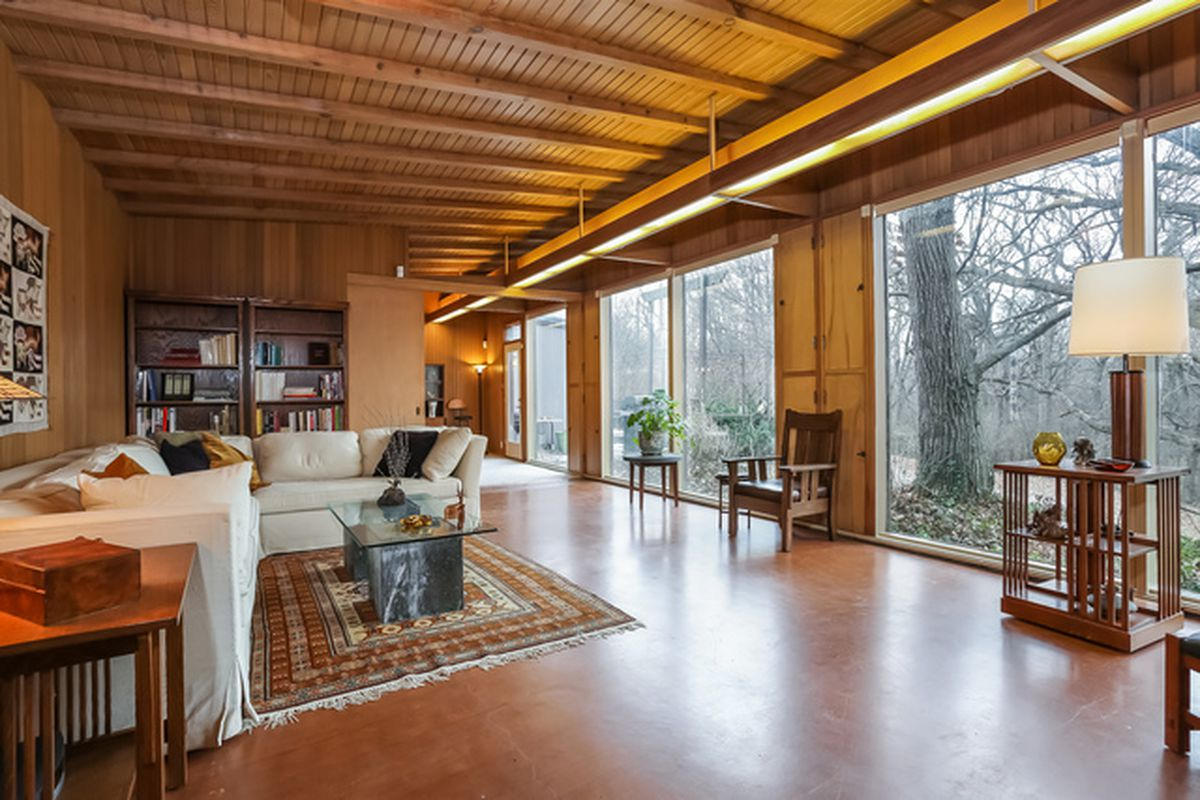 For sale midcentury modern keck keck home in suburban for Modern homes for sale chicago