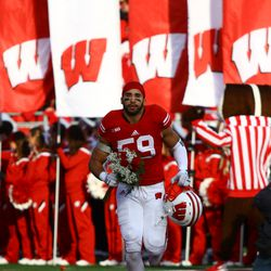 Marcus Trotter takes the field on Senior Day