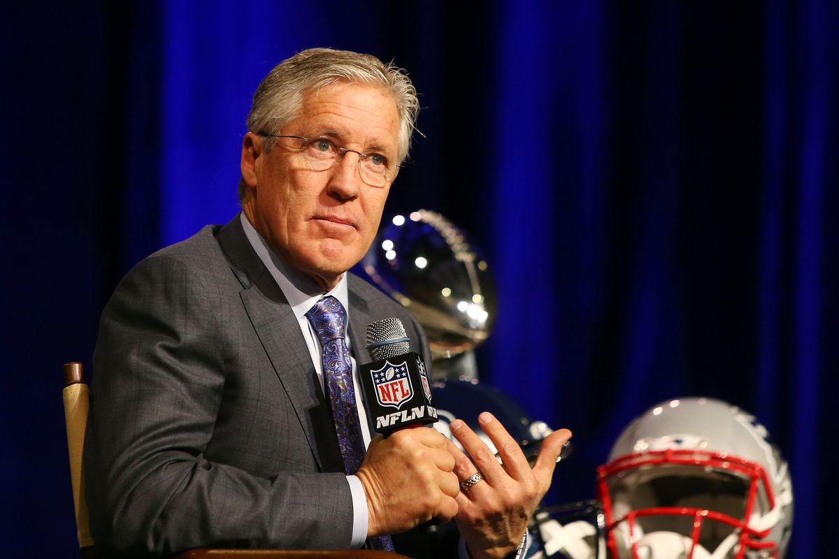 New England Patriots Head Coach Bill Belichick & Seattle Seahawks Head Coach Pete Carroll Joint Press Conference