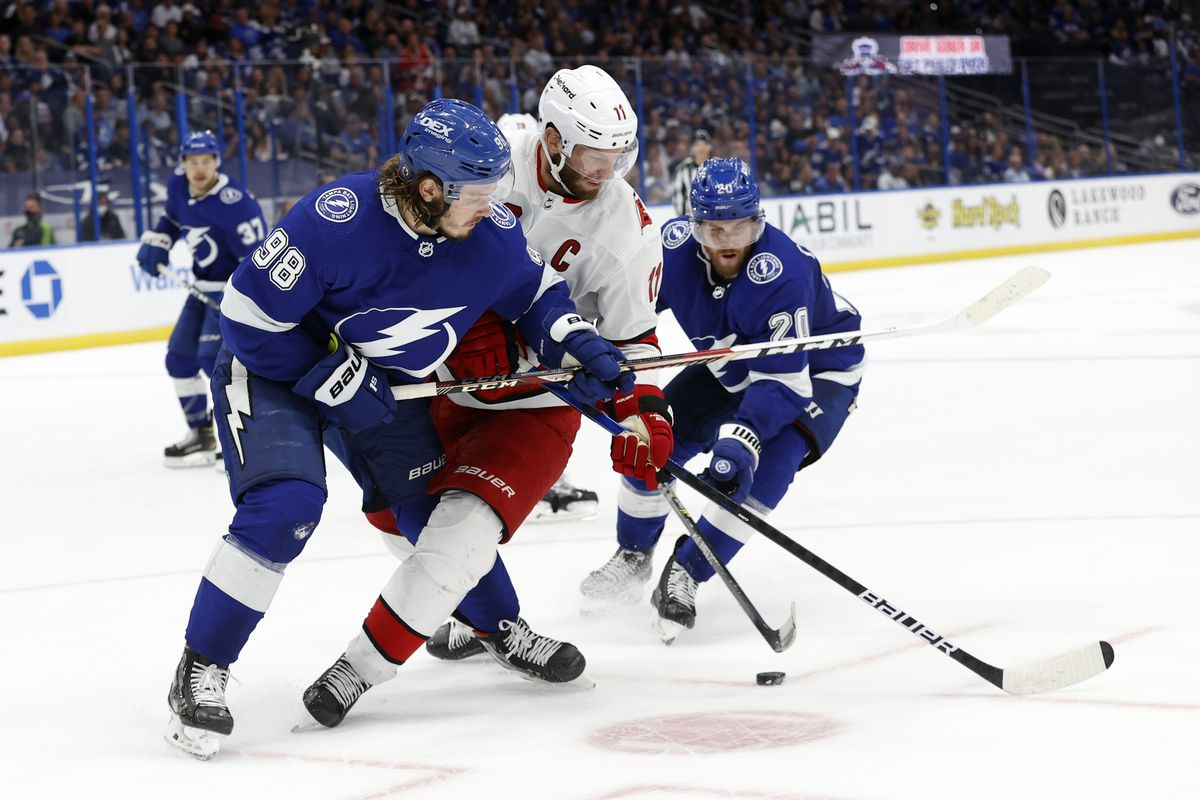 NHL: Stanley Cup Playoffs-Carolina Hurricanes at Tampa Bay Lightning